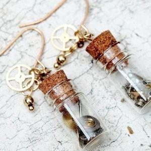 4/$15 Drift Bottle Dangle Earrings